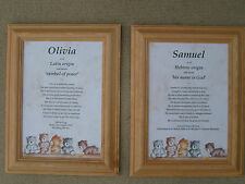 Twins Name Meaning Present Christening Baptism Gift x2