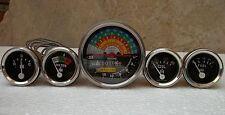 Ih Farmall 460 560 Gasdiesel Tachometer Temp Oil Pressure Ampere Fuel Gauge