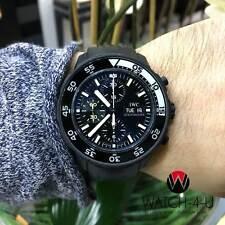 Limited Edition IWC Aquatimer Galapagos Islands IW376705 Black PVD Mens Watch+BP