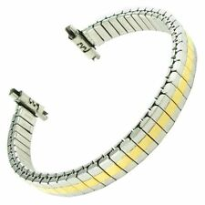 11-14mm Speidel Silver and Gold Tone Stainless Twist-O-Flex Watch Band 741/16