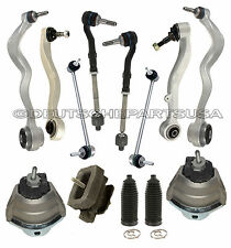 CONTROL ARMS BALL JOINTS TIE RODS ENGINE TRANNY MOUNT V8 BMW E60 SUSPENSION KIT