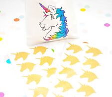 20 Gold Unicorn Glitter Stickers Rainbow Birthday Party Favours Envelope Seals