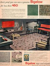 Paul McCobb Chairs BIGELOW RUGS & CARPETS Mid-Century Modern Furniture 1952 AD