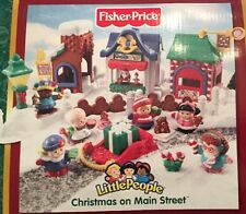 Fisher Price Little People Christmas On Main Street AS IS