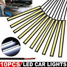 10X DC 12V-COB Tira LED DRL Luces de circulación diurna antiniebla para conducir Correa