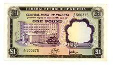 Nigeria . P-12a . 1 Pound . Nd(1968) . *Vf-Xf*