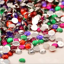 WHOLESALE 2000PCS 3D ROUND FLAT ACRYLIC GEMS NAIL ART CRAFT DECORATION qin