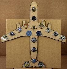 * Custom * C-141 18-Challenge Coin display / holder - wall mount