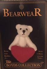 Boyds Bear Pin Holding Red Heart Bearwear