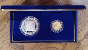 1987 Constitution Coins Proof Silver $1 & Gold $5 Dollar Commemorative (003)