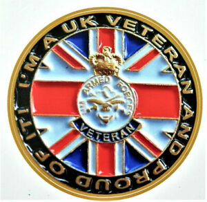 BRITISH ARMED FORCES VETERAN STICKER I'M A UK VETERAN AND PROUD OF IT. CAR VAN