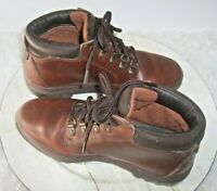 Timberland Women's Brown Leather Lace Up Ankle Boots Size 5 Hiking