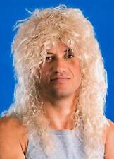 Male Blonde Rock Star Wig Fancy Dress Unisex