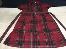 American Living Girls Red Plaid Dress Size 5 Country Spring