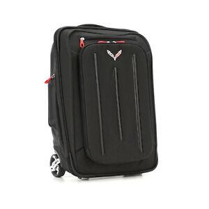 OEM NEW 2017-2019 Chevrolet Corvette Roller Luggage Suitcase Jet Black 22970468