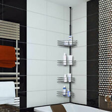 4 Layers Metal Shower Corner Pole Caddy Shelf Bathroom Wall Storage Rack Holder