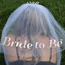 Bride to Be Veil Rose Gold, Hen Night Accessories,Bride to Be Headband,Free Gift