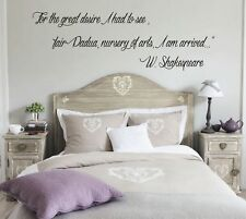 wall stickers frasi personalizzate poesie aforisma amore shakespeare a0118