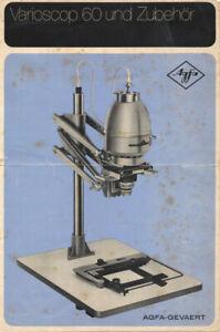 Agfa Varioscop 60 Vergrößerer mit 2 Objektiven (Negative bis 6x9 cm)