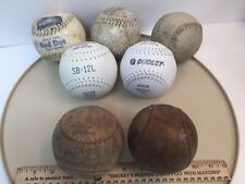 Lot of 7 Vintage Softballs Dudley Red Dot Concealed Stitch Ford Body 1940s