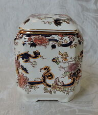 Antique Mason's Mandalay Blue Tea Caddy