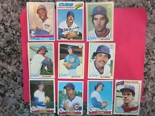 Lot of 10 Chicago Cubs Vintage Cards from 1976-1980 All Topps (Madlock, Buckner,