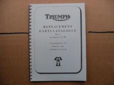 TRIUMPH T120,TR6,6T PARTS BOOK/CATALOGUE  FOR 1966  MODELS