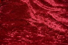 """PANNE VELVET CRUSHED BACKDROP VELOUR STRETCH FABRIC 60"""" WIDE CRANBERRY 90 YARDS"""