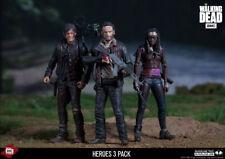 THE WALKING DEAD HEROES 3 PACK  Action Figure  McFarlane Rick, Daryl y Michonne