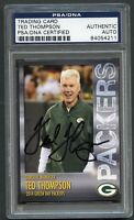 Ted Thompson signed autograph auto 2014 Green Bay Packers Card PSA Slabbed
