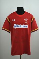 WALES NATIONAL TEAM 2016/2017 RUGBY SHIRT JERSEY UNDER ARMOUR XXL ADULT