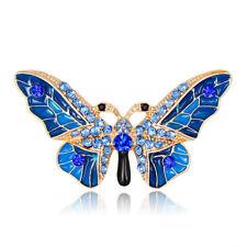 Delicate Women Rhinestone Butterfly Insect Shape Metal Brooch Fashion Jewelry