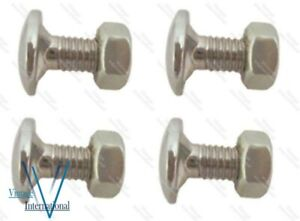 For Massey Ferguson 35 Bonnet Bolt Steel Chrome Set Of 4 Pcs @Vi