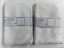 100 Stück Herren Taschentücher 40x40cm 100 % Baumwolle Weiß Stofftaschentücher
