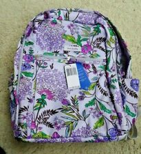 LIGHTEN UP GRAND BACKPACK Lavender Botanical Vera Bradley NWT 21604-M25 $115