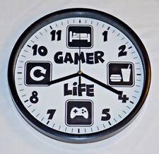 GAMER WALL CLOCK PERSONALISED NAME GAMER TAG EAT SLEEP GAME GAMING GAMER LIFE