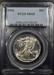 "1936 Liberty Walking Half Dollar ""PCGS MS65"" *Free S/H After 1st Item*"
