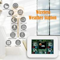 Digital Color Wireless Weather Station Thermometer Humidity Meter Sensor Clock
