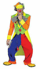 Adult Mens Deluxe Circus Clown Carnival Fun Fancy Dress Costume Outfit XL
