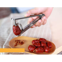 Kitchen Stainless Steel Metal Cherry Olive Pitter Removes Stone, Silver, S