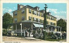 Pen-Mar Pennsylvania~Crouts Hotel~Ladies & Gents Climb Steps~1916 Vintage Cars