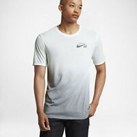 Nike SB Dri-FIT White / Grey Dip Dye T-Shirt 841542-100 - Size: XL