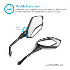 """MICTUNING Motorcycle Bike Handle Bar Rearview Side Mirror with Bolt 7/8"""" 10mm"""