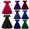 50s Vintage Retro Cocktail Dress Rockabilly Swing Pinup Evening Party Dress