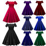 Women's Ladies 50s Style Vintage Lace Retro Petticoat Evening Party Swing Dress