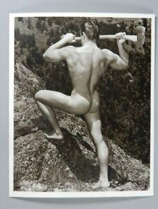 Vintage Male Nude Print, Original Keith Lewin Outdoor Pose, WPG, Gay Interest