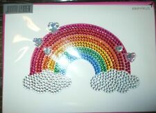 Papyrus Judith Leiber Jeweled Rhinestone Rainbow & Clouds Couture LOVE Card