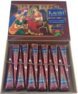 Organic Dark Brown Kaveri Henna Bridal Mehndi Cone Wholesale Seller Pure & Fresh