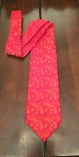 Peggy Guggenheim Collection Italian Made Men's Red Silk Neck Tie Made In Italy