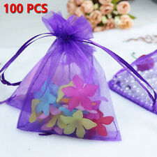 100pcs 10x15cm Drawstring Organza Pouch Strong Wedding Favor Gift Candy Bag New